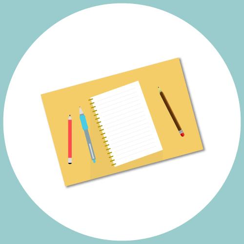logo menant à la page des articles de conseils pour aider l'enfant à développer son langage écrit