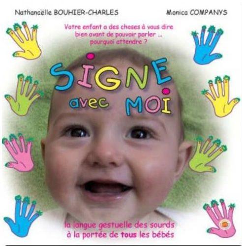 livre sur la langue des signes pour bébé représentant un visage de bébé souriant